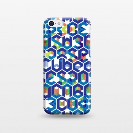 iPhone 5C  Cubed Balance by Sitchko Igor (Balance,Cubed,Cube,Space,Geometry,Colorful,Digital,Symetry,Line,Symetrical,Chaos,Blue,System,Geometrical,Worlds,Letters,Characters,Symbols,Type,Print)