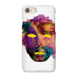iPhone 7 SlimFit Holi Mask by Sitchko Igor (holi,mask,color,colorful,fest,festival,face,gulal,happy,india,love,paint,spring,watercolor,water)
