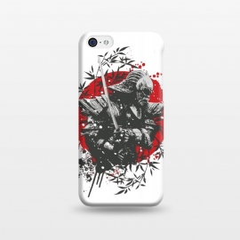 iPhone 5C  Black Samurai by Sitchko Igor (Black,Samurai,Japan,war,soldier,bamboo,japanese,katana,killer,sun,red,splash,sword,warrior)