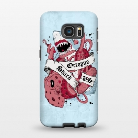 Galaxy S7 EDGE  Shark vs Octopus by Sitchko Igor