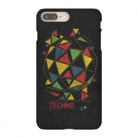 iPhone 8/7 plus  Techno by  (Techno,music,geometry,triangles,acid,tech,electronic,colorful,lsd,dj,deejay)