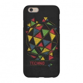 iPhone 6/6s StrongFit Techno by Sitchko Igor (Techno,music,geometry,triangles,acid,tech,electronic,colorful,lsd,dj,deejay)