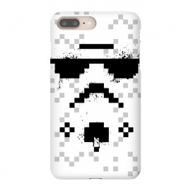 8-bit Trooper - Black by Sitchko Igor (Trooper,soldier,star wars,planet,movie,8 bit,geometry)