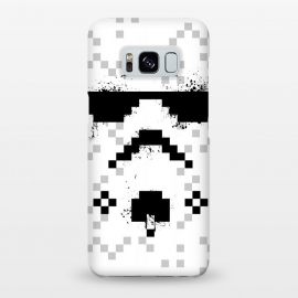 Galaxy S8+  8-bit Trooper - Black by Sitchko Igor (Trooper,soldier,star wars,planet,movie,8 bit,geometry)