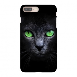 iPhone 8/7 plus  Black Cat by  (Cat,Black,Dark,Green,Eyes,wild,glass,meow,look)