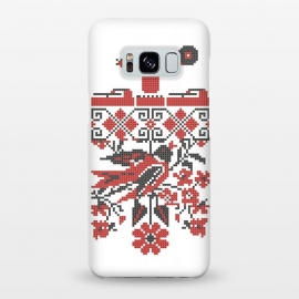 Galaxy S8+  Ethno DJ by Sitchko Igor (Ethno,DJ,Deejay,Ukraine,UA,Techno,Club,Vinyl,Turntable,Culture,Bird,embroidery,Україна,Культура,Діджей,Клуб,Вініл,Modern,Urban)