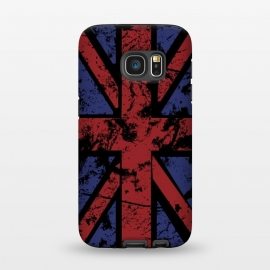 Galaxy S7  Grunge UK Flag Black by Sitchko Igor