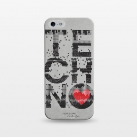 iPhone 5/5E/5s  I Love Techno by Sitchko Igor