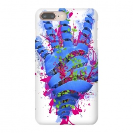 iPhone 8/7 plus  Nature VS Human by  (Nature,Human,vs,versus,sky,hand,palm,flowers,flora,blue,forest,bush,eco,tree,plant)