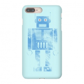 iPhone 8/7 plus  Robophobia by  (Robo,Robot,Robophobia,phobia,droid,android,space,metal,fun,humor,blue,fear)