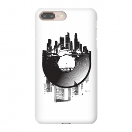 iPhone 8/7 plus  Urban Vinyl by  (Urban,modern,music,vinyl,turntable,turntabilism,digital,analog,dj,deejay,mono,stereo,city,town,street)