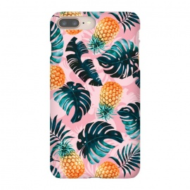 iPhone 8/7 plus  Pineapple and Leaf Pattern by  (pineapple,leaf,pattern,garden,forest,jungle,tropical,nature,vintage,retro)