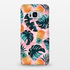 Galaxy S8+  Pineapple and Leaf Pattern by Burcu Korkmazyurek