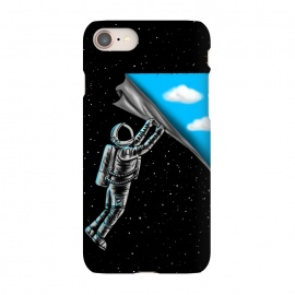 iPhone 7 SlimFit Astronaut open the sky by Coffee Man (astronaut,universe,space,fun,funny,sky,cloud,stars,space man,illlustration,creative,movie)