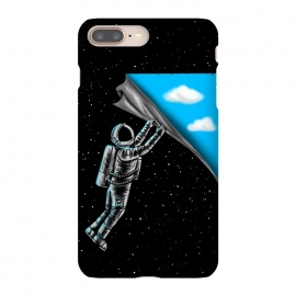 iPhone 8/7 plus  Astronaut open the sky by Coffee Man (astronaut,universe,space,fun,funny,sky,cloud,stars,space man,illlustration,creative,movie)