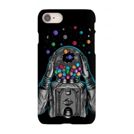 iPhone 7 SlimFit Astronaut Explotion by Coffee Man (astronaut,explotion,universe,space,cosmo,planets,gummy machine,gumm,fun,funny,stars)