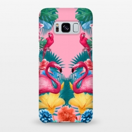 Galaxy S8+  Flamingo and Tropical garden by Burcu Korkmazyurek