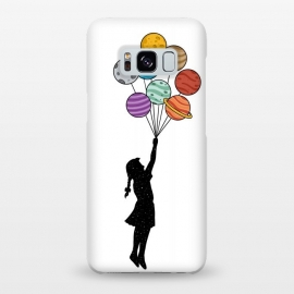 Galaxy S8+  Planets Balloons by Coffee Man (universe,balloons,kid,kids,children,planets,girl,fun,funny,bansky,stars,urbarn)