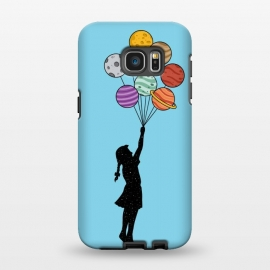Galaxy S7 EDGE  Planets Balloons 2 by Coffee Man