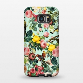 Galaxy S7 EDGE  FLORAL AND BIRDS III by Burcu Korkmazyurek