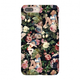 iPhone 8/7 plus  Floral and Pin Up Girls Pattern by Burcu Korkmazyurek