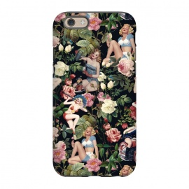 iPhone 6/6s  Floral and Pin Up Girls Pattern by Burcu Korkmazyurek
