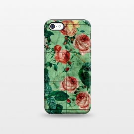 iPhone 5C  Floral and Marble Texture by Burcu Korkmazyurek