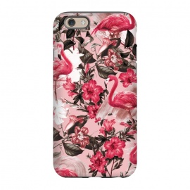 iPhone 6/6s  Floral and Flemingo III Pattern by Burcu Korkmazyurek