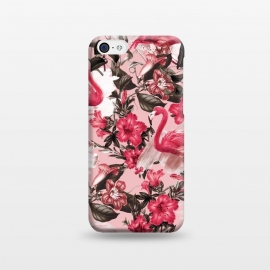 iPhone 5C  Floral and Flemingo III Pattern by Burcu Korkmazyurek
