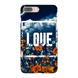 iPhone 8/7 plus  LOVE by  (LOVE,floral,botanical,nature,sky,garden,forest,jungle,tropical)