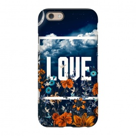 iPhone 6/6s StrongFit LOVE by Burcu Korkmazyurek (LOVE,floral,botanical,nature,sky,garden,forest,jungle,tropical)