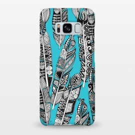 Galaxy S8+  Turquoise Feathers by Sharon Turner