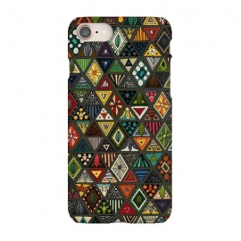 iPhone 7 SlimFit Geo Triangles by Sharon Turner (triangle,pattern)