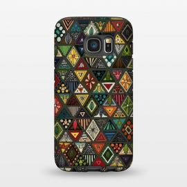 Galaxy S7  Geo Triangles by Sharon Turner