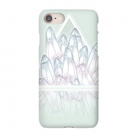 iPhone 7 SlimFit Crystals by Barlena (Gemstones, crystals, shine, fantasy, triangle, reflection, amethyst, pastels, green)
