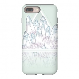 iPhone 7 plus StrongFit Crystals by Barlena (Gemstones, crystals, shine, fantasy, triangle, reflection, amethyst, pastels, green)