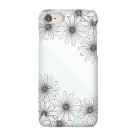 iPhone 7 SlimFit Happy Times by Barlena (flowers, blue, happy, times, circle, pastels)