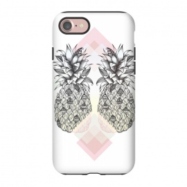 iPhone 8/7  Tropical by Barlena (pineapple, tropical, two, summer, fruit, drawing)
