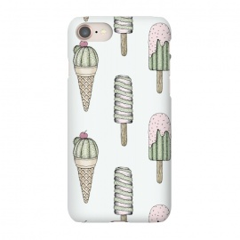 iPhone 7 SlimFit Sweet Treats by Barlena (Cacti, Ice Cream, Sweet, Prickly, Treats, Summer, Fun, Funny, Pastel, Cactus)