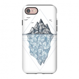iPhone 7 StrongFit Iceberg by Barlena (iceberg, ocean, ice, cold, winter, pattern, polygon)