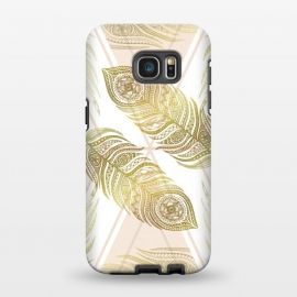 Galaxy S7 EDGE  Gold Feathers by Barlena