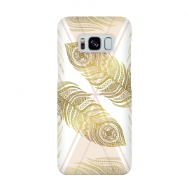 Galaxy S8  Gold Feathers by Barlena