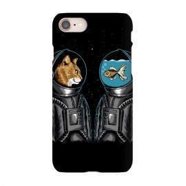 iPhone 7 SlimFit Astronaut cat and fish by Coffee Man (cat, fish, astronaut, space,spaceman,universe,nature,stars,galaxy,cat lover,animal,cute,adorable,humor,funny)