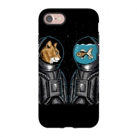 iPhone 8/7  Astronaut cat and fish by Coffee Man