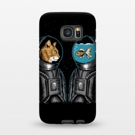 Galaxy S7  Astronaut cat and fish by Coffee Man
