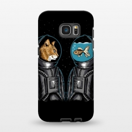 Galaxy S7 EDGE  Astronaut cat and fish by Coffee Man