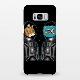 Galaxy S8+  Astronaut cat and fish by Coffee Man