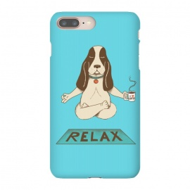 iPhone 8/7 plus  Dog Relax by Coffee Man (dog,yoga,pet,pet lover,coffee,funny,fun,cute,adorable,animal,relax,relaxing,animal lover)