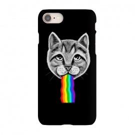 iPhone 7 SlimFit Cat rainbow by Coffee Man (cat,cats,rainbow,vomit,social media,funny,fun,cute,adorable,animal,pop culture,geek,nerd,pet,cat lover)