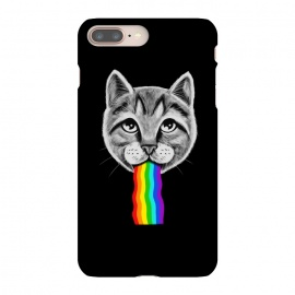 iPhone 8/7 plus  Cat rainbow by Coffee Man (cat,cats,rainbow,vomit,social media,funny,fun,cute,adorable,animal,pop culture,geek,nerd,pet,cat lover)